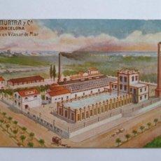Postales: VILASSAR DE MAR - FÀBRICA A. MURTRA - CAT1. Lote 204195881