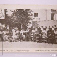 Postales: ANTIGUA POSTAL - 5. CASA CANALS & NUBIOLA. S. ESTEVE DE SASROVIRAS. BRIGADA DE SELECCIÓN... - CAVA. Lote 204241661