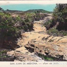 Postales: BARCELONA SAN JUAN DE MEDIONA FONT DEL MOLI. POSTAL FOTOGRAFICA EN BYN COLOREADA. ESCRITA. Lote 204328881