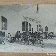 "Postais: POSTAL: ""ESTACIÓN ENOLÓGICA DE REUS - MUSEO DE MAQUINARIA"". 1908. FOTO ARTÍSTICA E. PUIG. ORIGINAL. Lote 204528107"