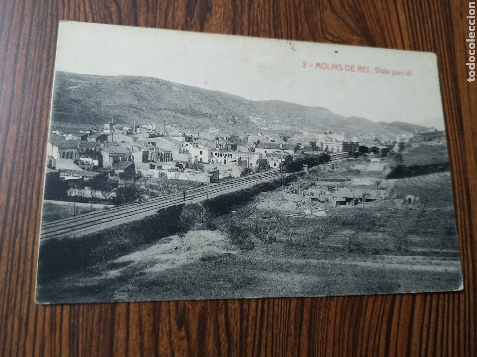 EST5. PO109. TARJETA POSTAL. 2. MOLINS DE REI. VISTA PARCIAL. 1927 (Postales - España - Cataluña Antigua (hasta 1939))