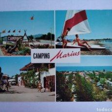 Postales: POSTAL TARRAGONA COSTA DORADA CAMPING MARIUS MONTROIG CIRCULADA. Lote 205285572