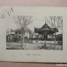 Postais: POSTAL REUS TEATRO CIRCO 1909 M.N., PARIS. ORIGINAL. Lote 205335718