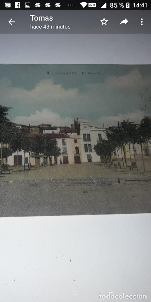 Postales: T-14.- POSTAL DE -- CADAQUES-- 8.- EL PASETO.- COLOREADA , CIRCULADA - Foto 2 - 205438060