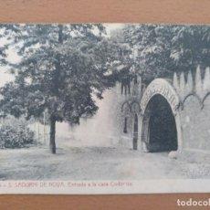 Postales: POSTAL S SADURNI DE NOYA ENTRADA CASA CODORNIU CIRCULADA FOTOTIPIA THOMAS. Lote 205553311