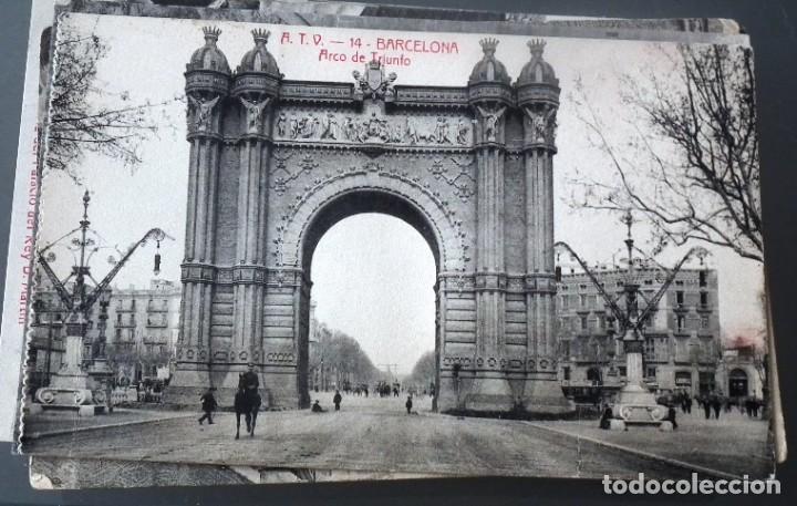 Postales: LOTE DE 58 POSTALES ANTIGUAS DE CATALUNYA - ÁNGEL TOLDRÁ VIANZO - ATV - Foto 6 - 205583380