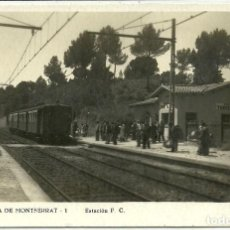 Postales: (PS-63262)POSTAL DE TORREBLANCA DE MONTSERRAT-ESTACION F.C.. Lote 205715632