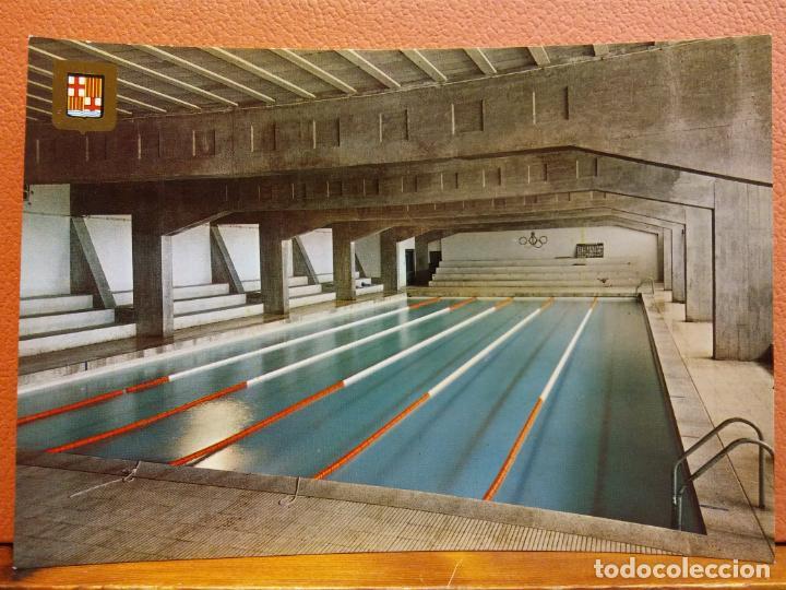 IGUALADA, BARCELONA. PISCINA CUBIERTA. BONITA POSTAL. SIN USAR (Postales - España - Cataluña Moderna (desde 1940))