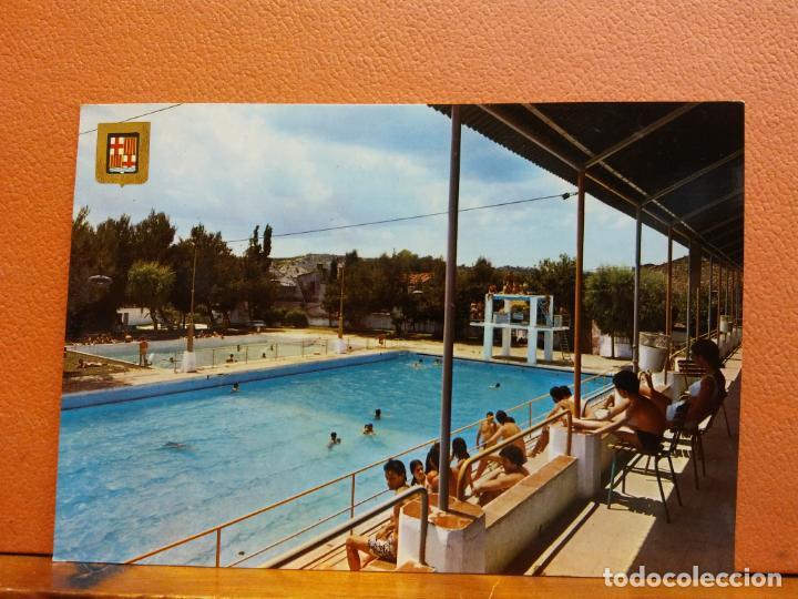 IGUALADA, BARCELONA. PISCINA MUNICIPAL. BONITA POSTAL. SIN USAR (Postales - España - Cataluña Moderna (desde 1940))