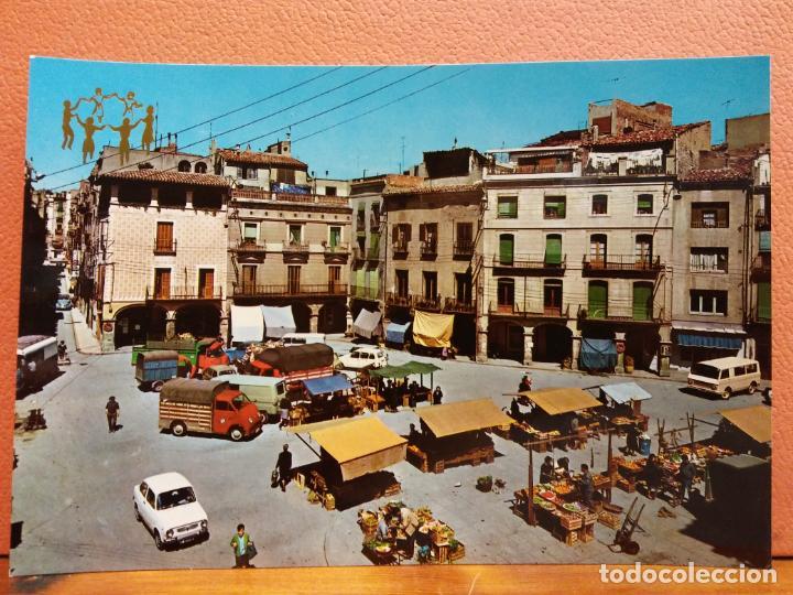 IGUALADA, BARCELONA. PLAZA DEL GENERALÍSIMO FRANCO. BONITA POSTAL. SIN USAR (Postales - España - Cataluña Moderna (desde 1940))