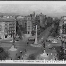 Postales: POSTAL * BARCELONA ,AVDA. GENERALISIMO FRANCO , PAS. GRÀCIA * ORIOL. Lote 206344472