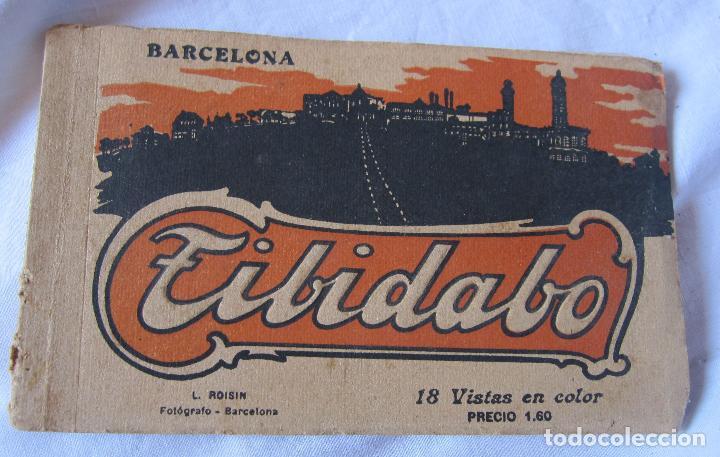 L. ROISIN. BLOC TIBIDABO. COLOR. INCOMPLETO SOLO 11 POSTALES. 9,5 X 15 CM (Postales - España - Cataluña Antigua (hasta 1939))