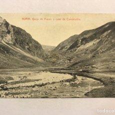 Postales: NURIA (GERONA) POSTAL GORJA DEL FRESER Y CAMI DE CAMPRODON. FOTOTIPIA THOMAS (H.1920?) S/C. Lote 206410700