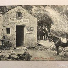 Postales: NURIA (GERONA) POSTAL ANIMADA. FONT DE LA RIURA. FOTOTIPIA THOMAS (H.1910?) S/C. Lote 206411783