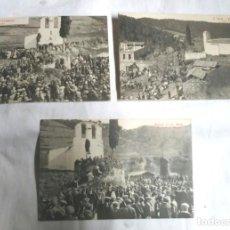 Postales: SANT MEDI MISSA DE CAMPANYA, APLECH, ERMITA I CASA AÑOS 40, NO CIRCULADA. Lote 206598055