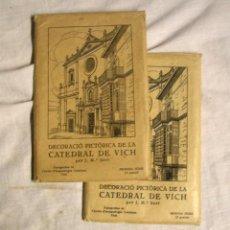 Postales: CATEDRAL DE VICH 24 POSTALES DECORACIÓ PICTÒRICA 1ª Y 2ª SERIE COMPLETAS. Lote 206598070