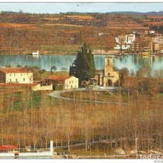 Postales: == C512 - POSTAL - PORQUERAS - GERONA - VISTA GENERAL - AL FONDO EL LAGO. Lote 206599243