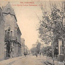 Postales: SABADELL.- CALLE MARIA LUISA FERNANDA. Lote 206776290