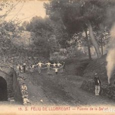Postales: S. FELIU DE LLOBREGAT.- FUENTE DE LA SALUD. Lote 206776380