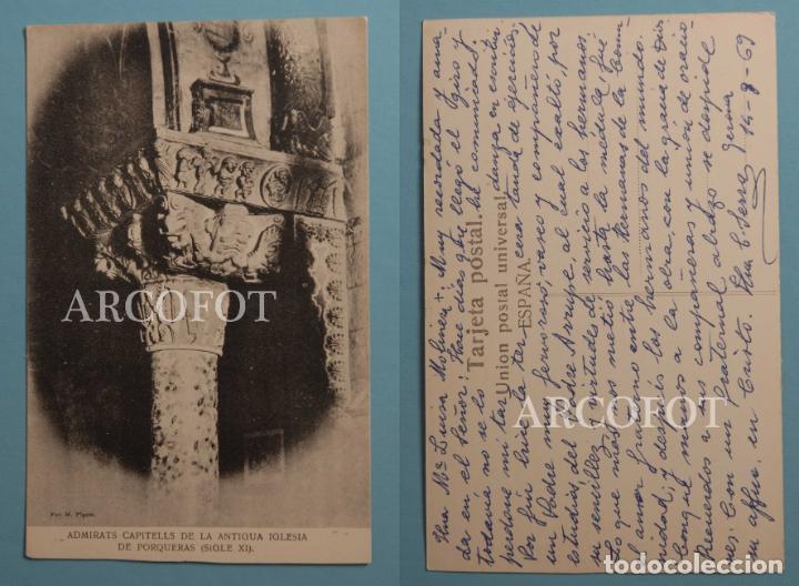 ANTIGUA POSTAL - PORQUERAS (GERONA) - CAPITELLS - LA DE LAS FOTOS (Postales - España - Cataluña Moderna (desde 1940))
