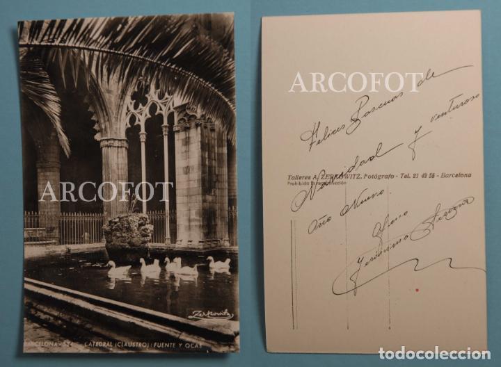 ANTIGUA POSTAL - BARCELONA - CATEDRAL - CLAUSTRO - LA DE LAS FOTOS (Postales - España - Cataluña Moderna (desde 1940))