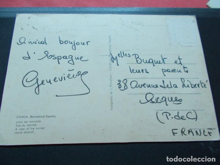 Postales: CALELLA ( BARCELONA ) VISTA DEL MERCADO - Foto 2 - 206820255
