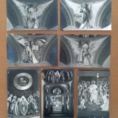 Postales: SIETE POSTALES PINTURAS MURALES IGLESIA SANT FELIU DEL RECO FIDEL TRIAS PAGES RELIGION. Lote 206866947