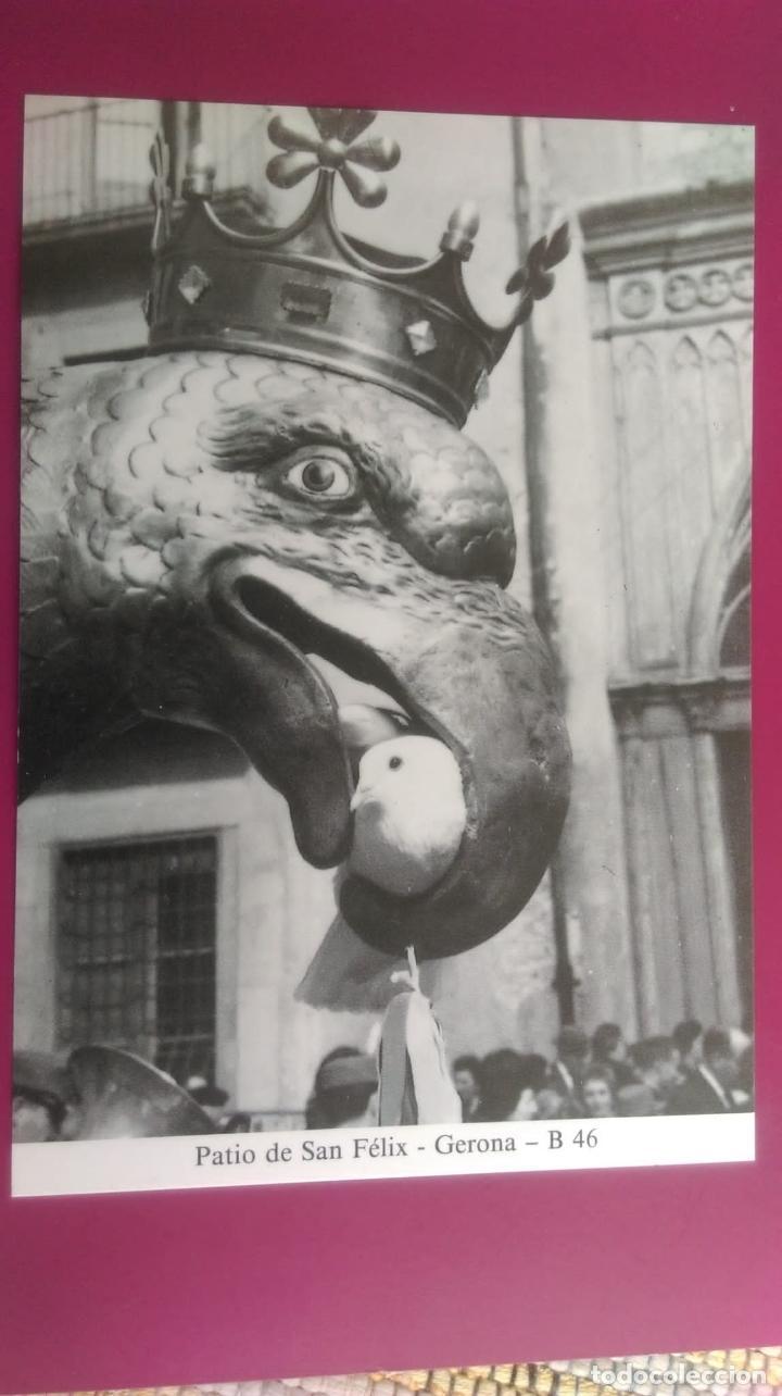 PATIO DE SAN FELIX REUNION DE GIGANTES Y CABEZUDOS GERONA GIRONA (Postales - España - Cataluña Moderna (desde 1940))