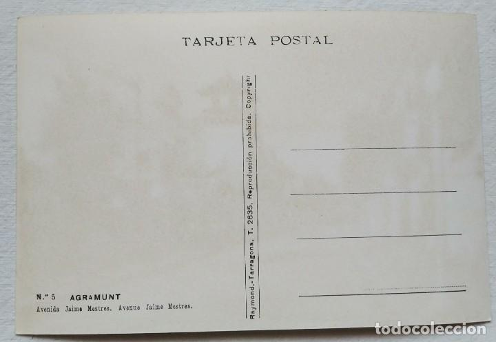 Postales: SIN CIRCULAR. AGRAMUNT Nº 5. AVENIDA JAIME MESTRES. FOTO RAYMOND - Foto 2 - 206967010