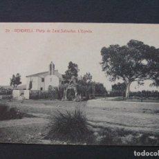 Postales: 20 - VENDRELL - PLATJA DE SANT SALVADOR. L'ERMITA - FOTOTIPIA THOMAS. Lote 207237736