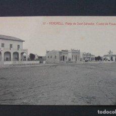 Postales: 17- VENDRELL - PLATJA DE SANT SALVADOR. COSTAT DE PONENT. Lote 207237831