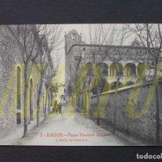 Postales: 2 - BAGUR - PASEO VENTURA SABATER - L. ROISIN. Lote 207237888