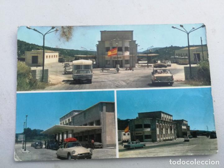 ANTIGUA POSTAL DE LA JUNQUERA - DIFERENTES ASPECTOS DE LA ADUANA - FOTOS MELI FIGUERAS - NO CIRCULAD (Postales - España - Cataluña Moderna (desde 1940))