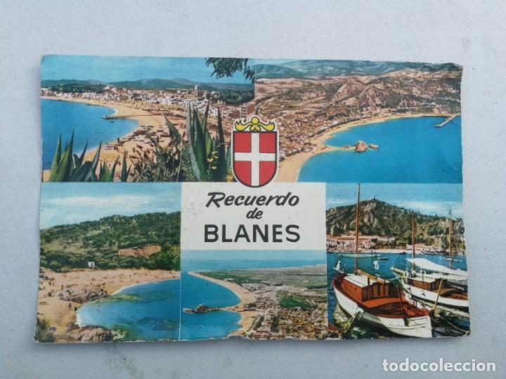 ANTIGUA POSTAL - RECUERDO DE BLANES - COSTA BRAVA - NO CIRCULADA - (Postales - España - Cataluña Moderna (desde 1940))