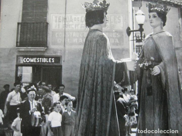 SAN HILARIO SACALM-LOS GIGANTES-ED·FOTOGRAFICAS BOSCH-11-POSTAL ANTIGUA-(71.344) (Postales - España - Cataluña Antigua (hasta 1939))
