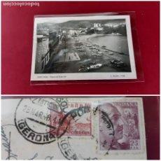Postales: PORT BOU-PASEO DEL EJERCITO-1948-EXCELENTE ESTADO. Lote 208360428
