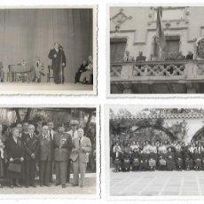 Postales: SITGES - HOMENAJE A LA VEJEZ 1954 - 4 FOTOGRAFÍAS 14 X 9 CM. - P30836. Lote 208382978
