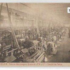 Postales: SANT CELONI - FÁBRICA DELS SENYORS GRAMUNT I FILL - SECCIÓ DE TELERS - P30830. Lote 208384581