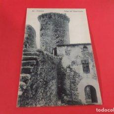 Postales: TOSSA DE MAR-GIRONA-PRINCIPIOS DE SIGLO-SIN CIRCULAR. Lote 209087115