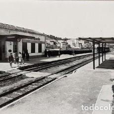 Postales: MASQUEFA BARCELONA ESTACION DEL FERROCARRIL RENFE TREN CATALUÑA FOTOGRAFICA IMPECABLE MUY RARA. Lote 209417205