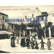 Postales: (PS-63316)POSTAL FOTOGRAFICA DE VILASECA-FUENTE Y PLAZA MAÑA. Lote 209698800
