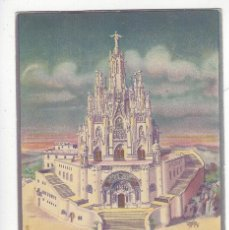 Postales: TEMPLO NACIONAL EXPIATORIO DEL SAGRADO COTAZON DE JESUS.- TIBIDABO.- BARCELONA. Lote 209762423
