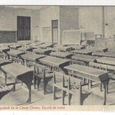 Postales: ATENEU IGUALADI DE LA CLASSE OBRERA. ESCOLA DE NOIES.. Lote 209762606