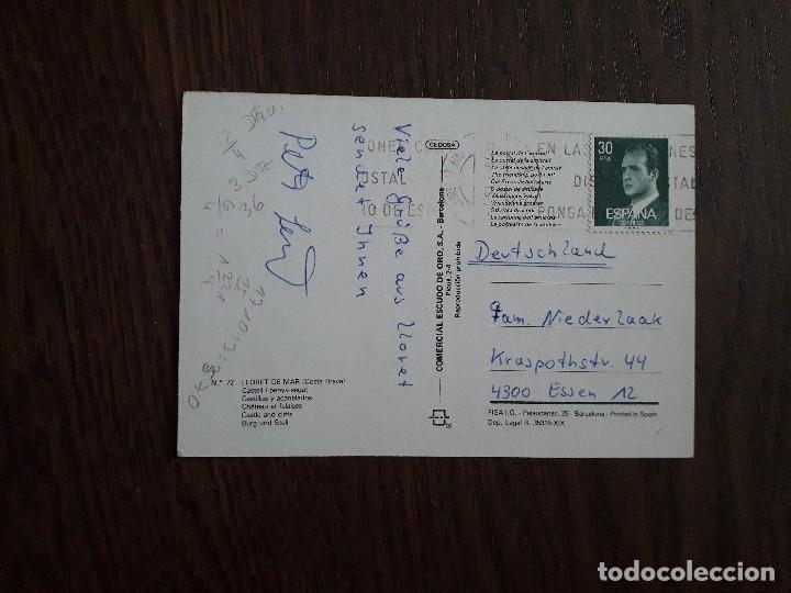 Postales: postal de Lloret de mar, Costa Brava. Cataluña. - Foto 2 - 209765490