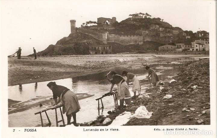 TOSSA Nº7 LAVANDO EN LA RIERA EDIC. J. SOLER SIN CIRC. (Postales - España - Cataluña Moderna (desde 1940))