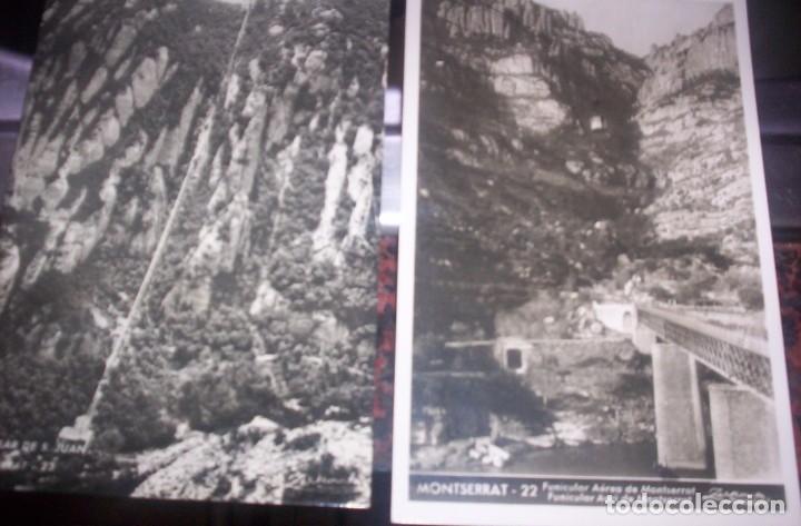 MONTSERRAT - LOTE DOS POSTALES - (Postales - España - Cataluña Moderna (desde 1940))