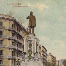 Postales: BARCELONA MONUMENTO A CLAVE. ED. DR TRENKLER CO.,LEIPZIG 1908 BCA 38. SIN CIRCULAR. Lote 210116081