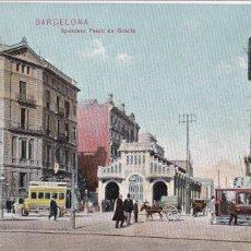 Postales: BARCELONA APEADERO PASEO DE GRACIA. ED. DR TRENKLER CO.,LEIPZIG 1908 BCA 36. SIN CIRCULAR. Lote 210116238