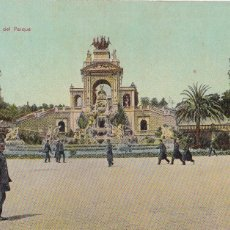 Postales: BARCELONA CASCADA DEL PARQUE. ED. DR TRENKLER CO.,LEIPZIG 1908 BCA 5. SIN CIRCULAR. Lote 210117725
