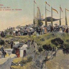 Postales: BARCELONA ROMERIA DEL RAM MISA EN EL TIBIDABO. ED. DR TRENKLER CO.,LEIPZIG 1908 BCA 66. ESCRITA. Lote 210118298